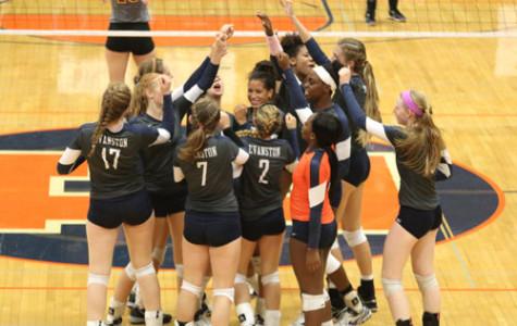Girls varsity volleyball, ETHS vs Lake Forest