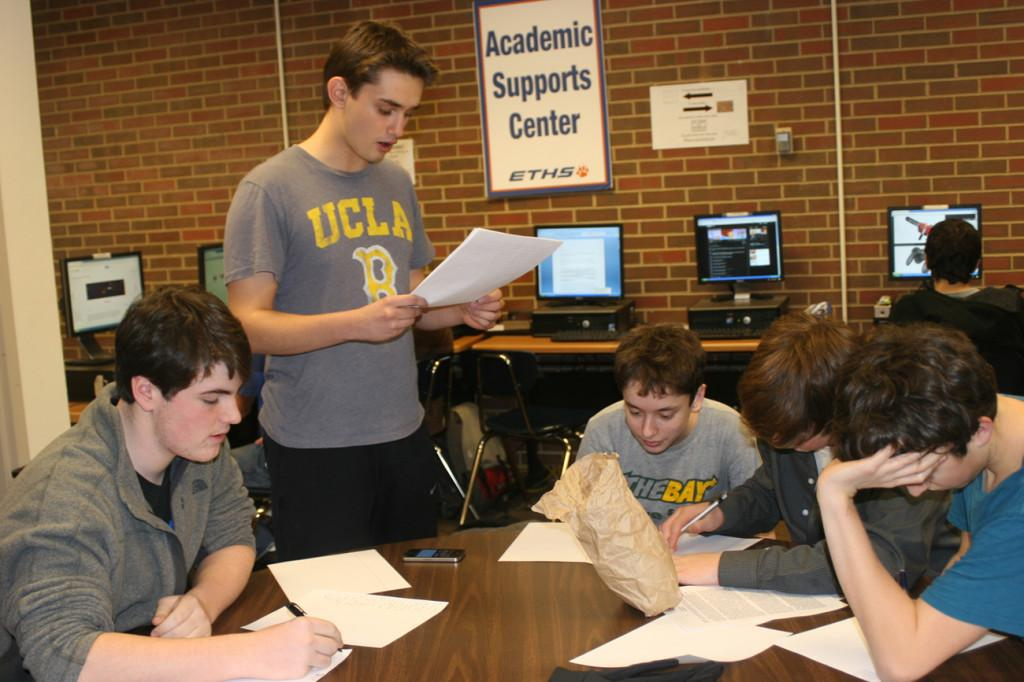 The Debate team practices before a competition.