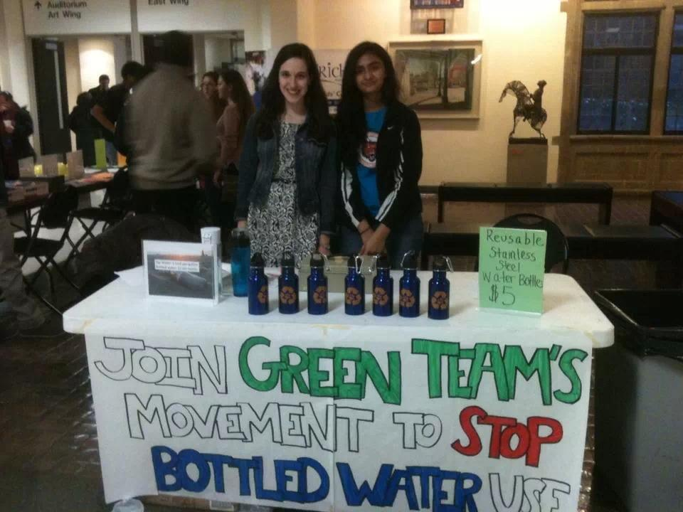 Natalie+Jacobson%2C+senior+and+Fidak+Khan%2C+junior+sell+reusable+water+bottles