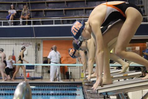 Girls+swimming+looks+for+consistency+in+meet+against+Deerfield