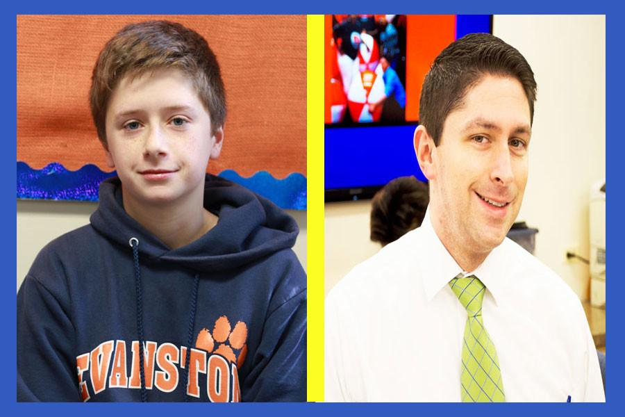 Sophomore Thomás Stephens and Ryan McLaughlin