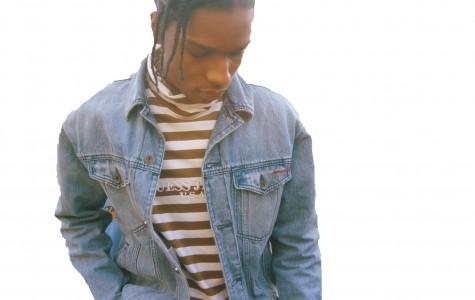 An A$AP Rocky x Guess?model