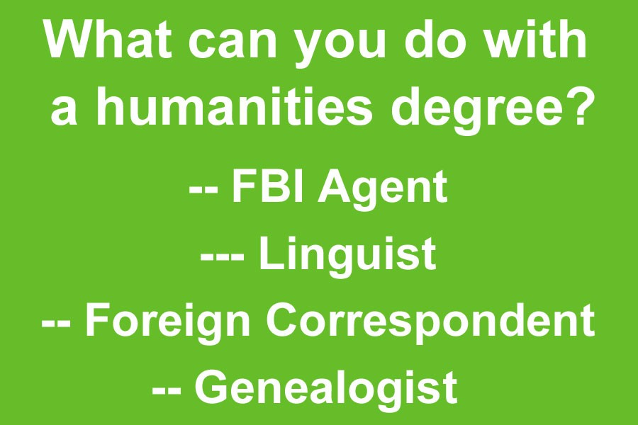 Humanities degrees are important too