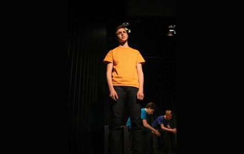 Student Sam Blustein performs.