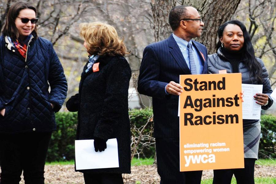 Evanston residents at last year's Stand Against Racism.