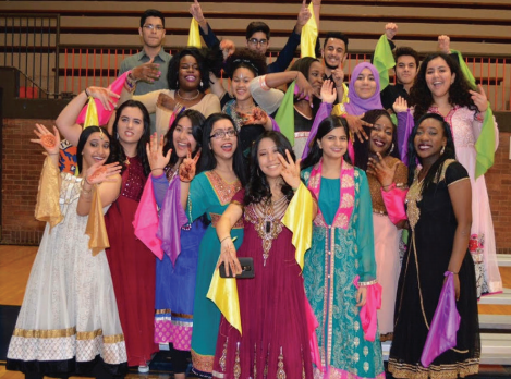 SAME students celebrate their culture at recent pep rally.