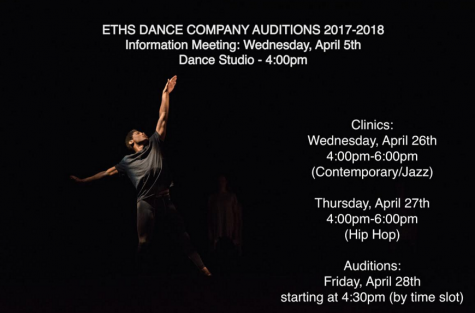 ETHS Dance Company Auditions 2017-2018