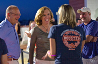 Parents and faculty have fun at Boosterpalooza. Photo courtesy of Boosters.