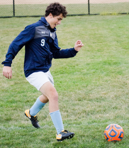 Gavin Rosengarten dribbles the ball at a practice back in August.