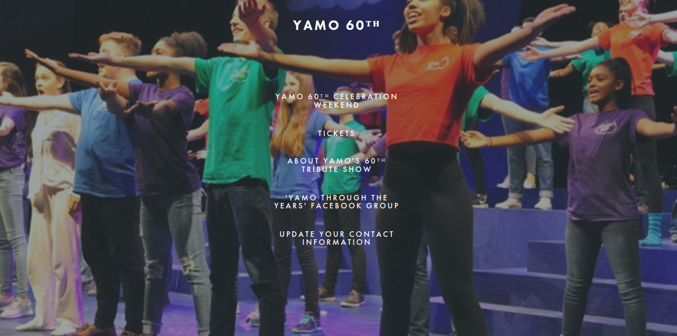 The ETHS Theatre program advertises the YAMO 60th anniversary show on their website.