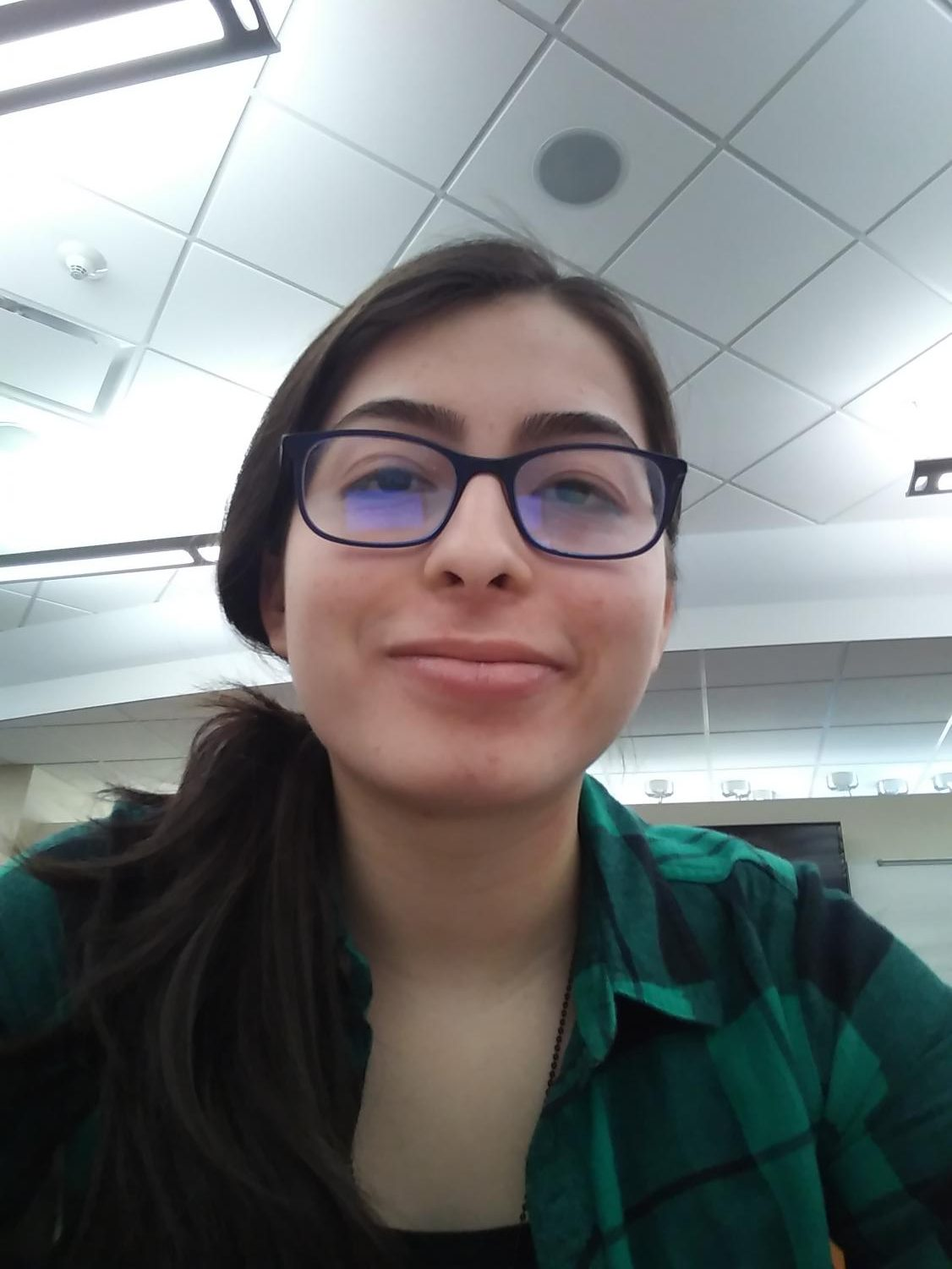 Junior Bella Buitrago takes a break from class and hangs out in the Hub.
