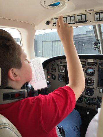 Freshman takes flight in pilot school
