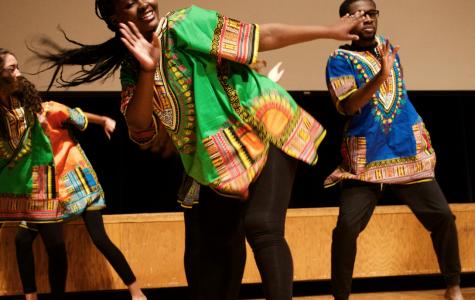 Speaker Devea Williams, and dancers Jacline Baptiste and Dominick McIntosh at 2018 Black Summit.