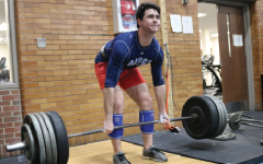 Senior Will Peterson successfully deadlifts 455 pounds during a baseball workout.