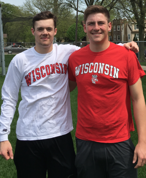 Harry Porter and Joe Epler, good friends at ETHS, will be rooming next year at University of Wisconsin.