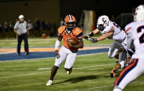 Junior Quadre Nicholson dodges a Conant defender.