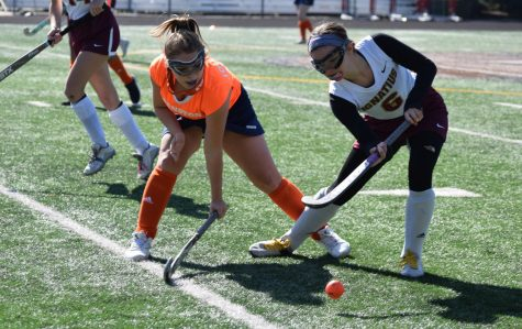 Freshman Grace Johnson defends a St. Ignatius player in the ETHS win Saturday.