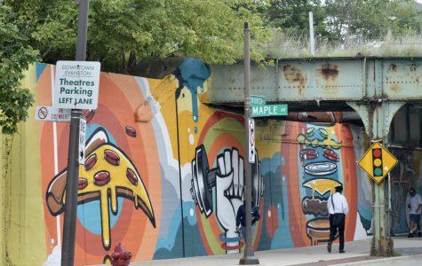 Colorful concrete creates community