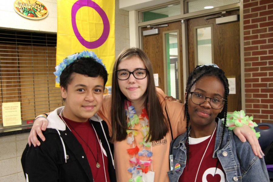 Summit participants from the left Mason Roque, Lillian Gustafson and Caleigh Richards.