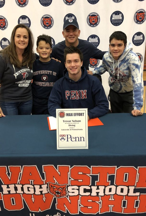 Nelson at the ETHS fall commitment day.