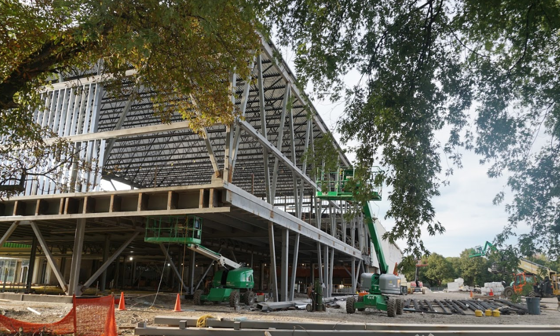 Robert Crown Community Center undergoes construction for its new building