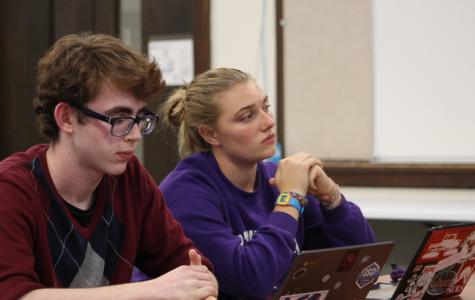 Student Representative Echo Allen and Vice Student Representative Isaac Slevin.