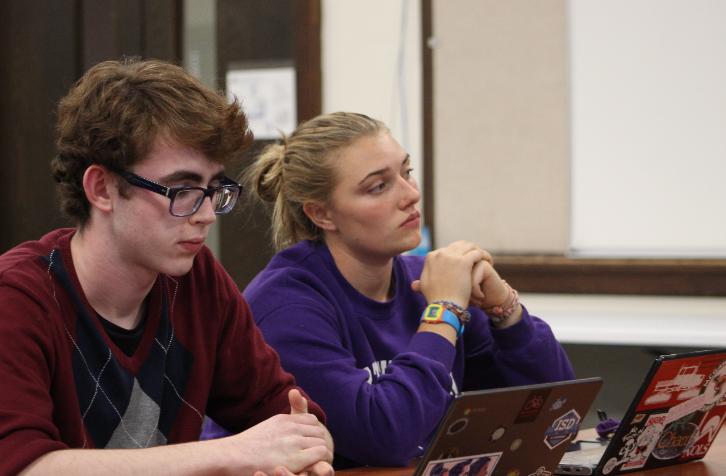 Student+Representative+Echo+Allen+and+Vice+Student+Representative+Isaac+Slevin.+