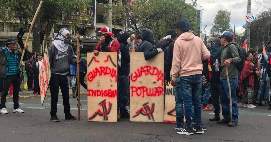 Protestas en Ecuador, 2019.