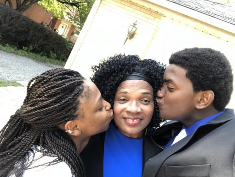 "Junior Valery Jean Jaques reflects on what has brought him joy during the shelter-in-place and locates this selfie of ""my sister and my mother who I love so dearly."""