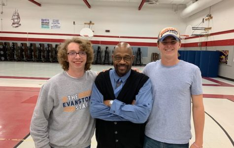 From left: Werner, Lowe and Cameron Mulvihill, 2018-19 Entertainment Reviewer, at a 2019 IHSA event.