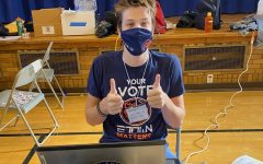 Jake Vasilias works the polls on Election Day 2020.