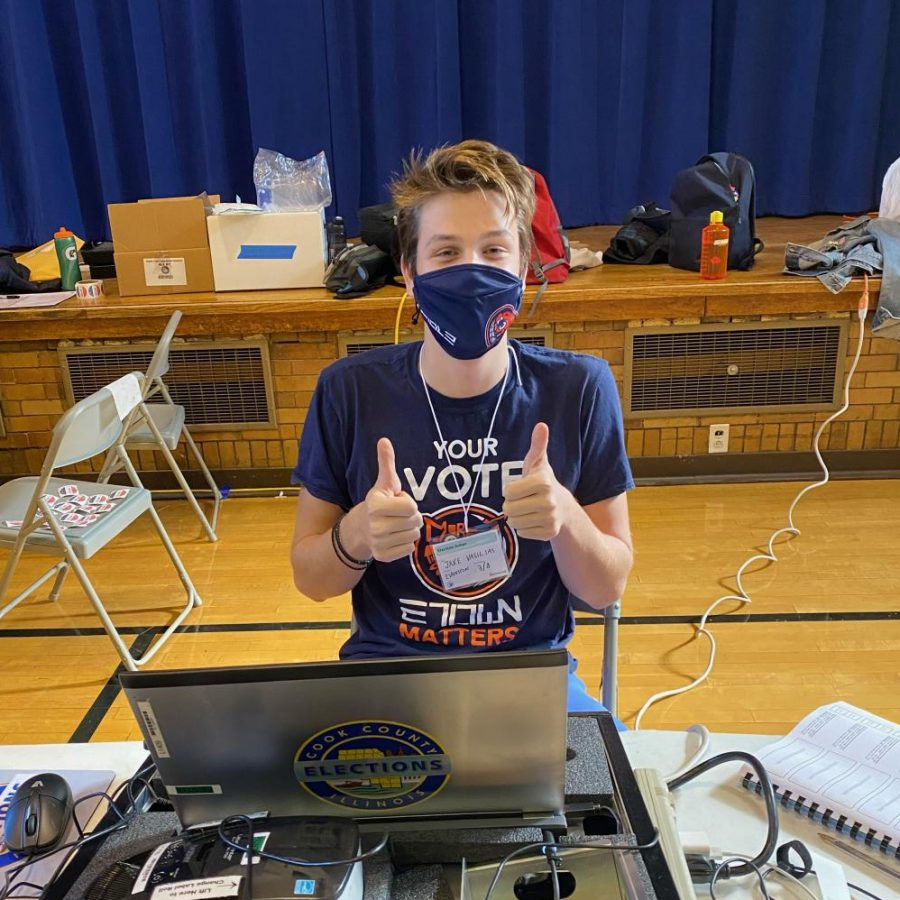 Jake Vasilias works the polls on Election Day 2020.